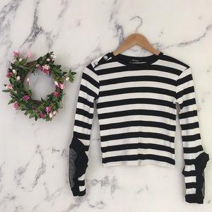24883132 Women Black Zara Striped Sweater on Poshmark